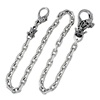925 Sterling Silver Skull Wallet Chain Lapping Free
