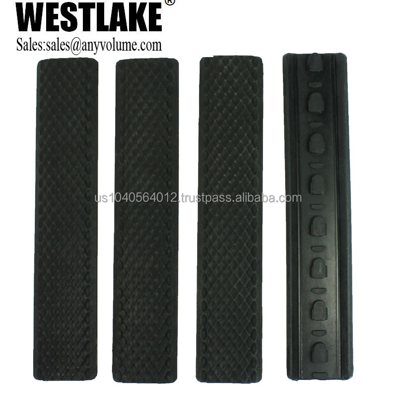 Hot Sale 4 piece Rifle Quad Rail Keymod Soft Rubber Rail Cover in scope&accessories(WL-RC03)