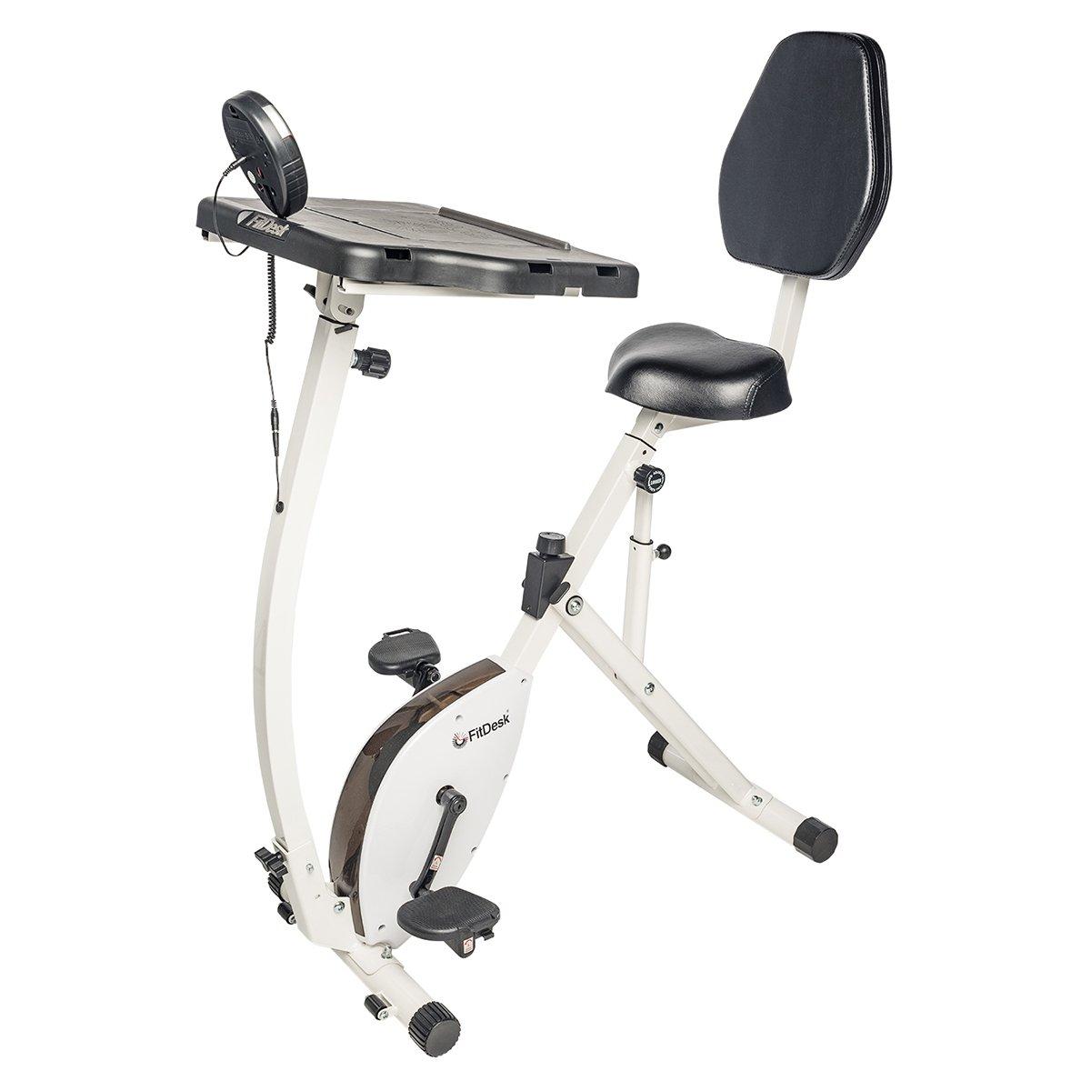 02b1830e952 Get Quotations · FitDesk Exercise Bike Recumbent Exercise Bike with Sliding  Desk