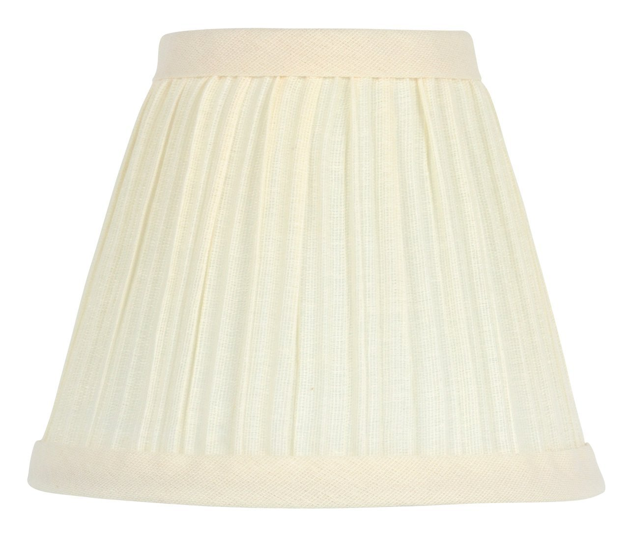 Upgradelights 5 Inch Clip On Mushroom Pleated Retro Drum Chandelier Lamp Shades in Eggshell (Set of 2). 3x5x4