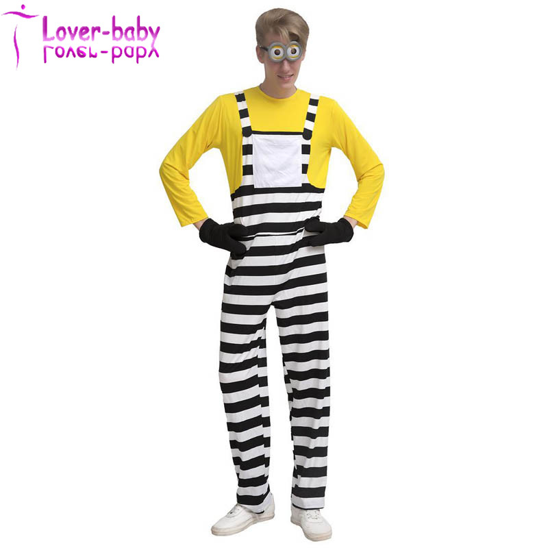 Adult Unisex Minion Kevin Jumpsuit Minions Movie Cosplay party Halloween Costume