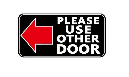 Buy Please Use Other Door Left Arrow Business Store Door Sign Window Wall Sticker In Cheap Price On Alibaba Com