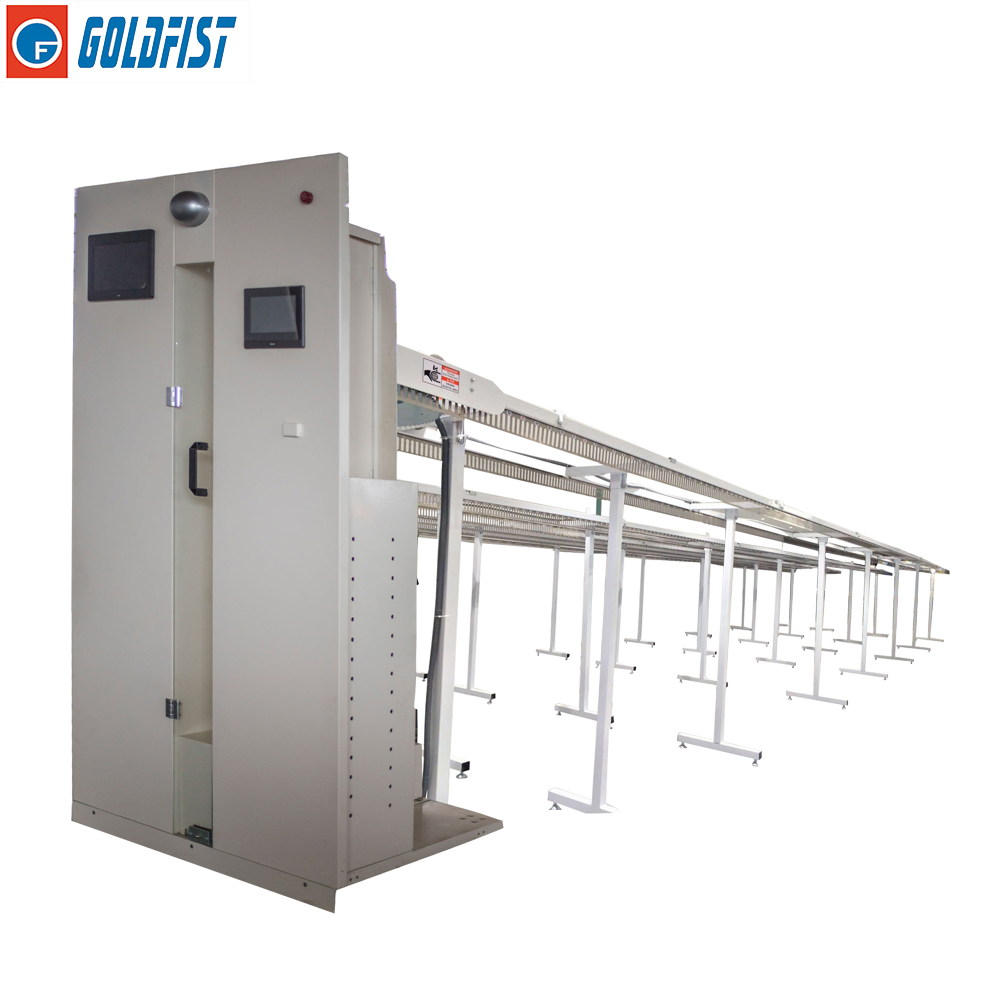 Uniform Rails Electric Rotating Hangers Uniform Conveyor Dust Free Washing Machine