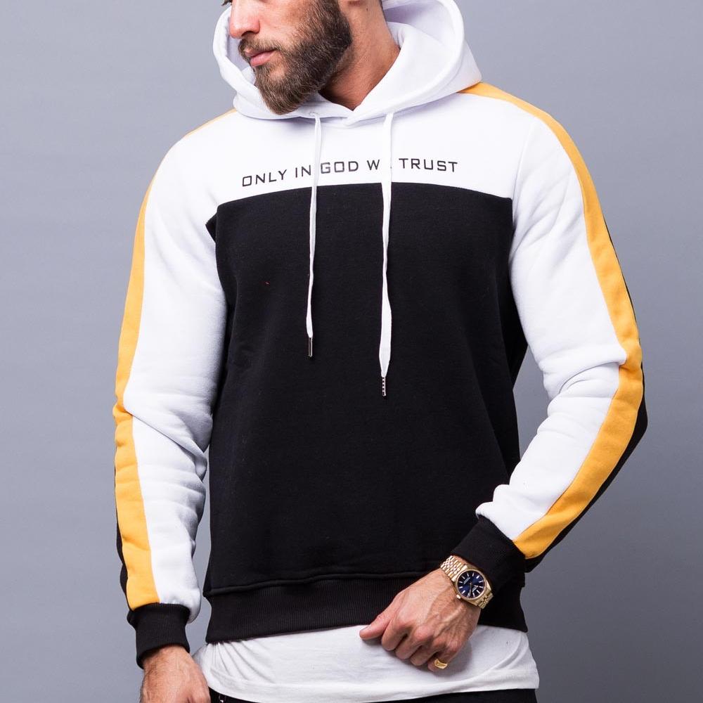 โลโก้ที่กำหนดเอง 100% ฝ้าย hip hop ผู้ชาย hoodie