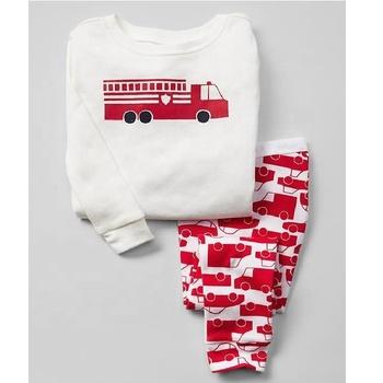 754b6540a Boys Pajama Sets With Fire Truck Print - Buy Custom Printed Pajamas ...