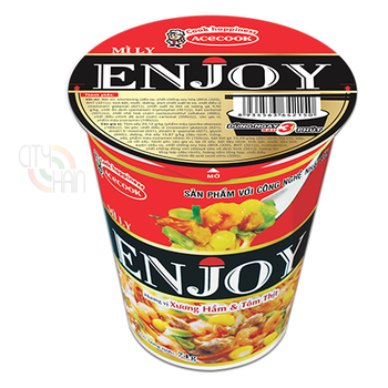 ENJOY STEWED BONES, SHRIMP AND MEAT FLAVOUR INSTANT NOODLE 74G