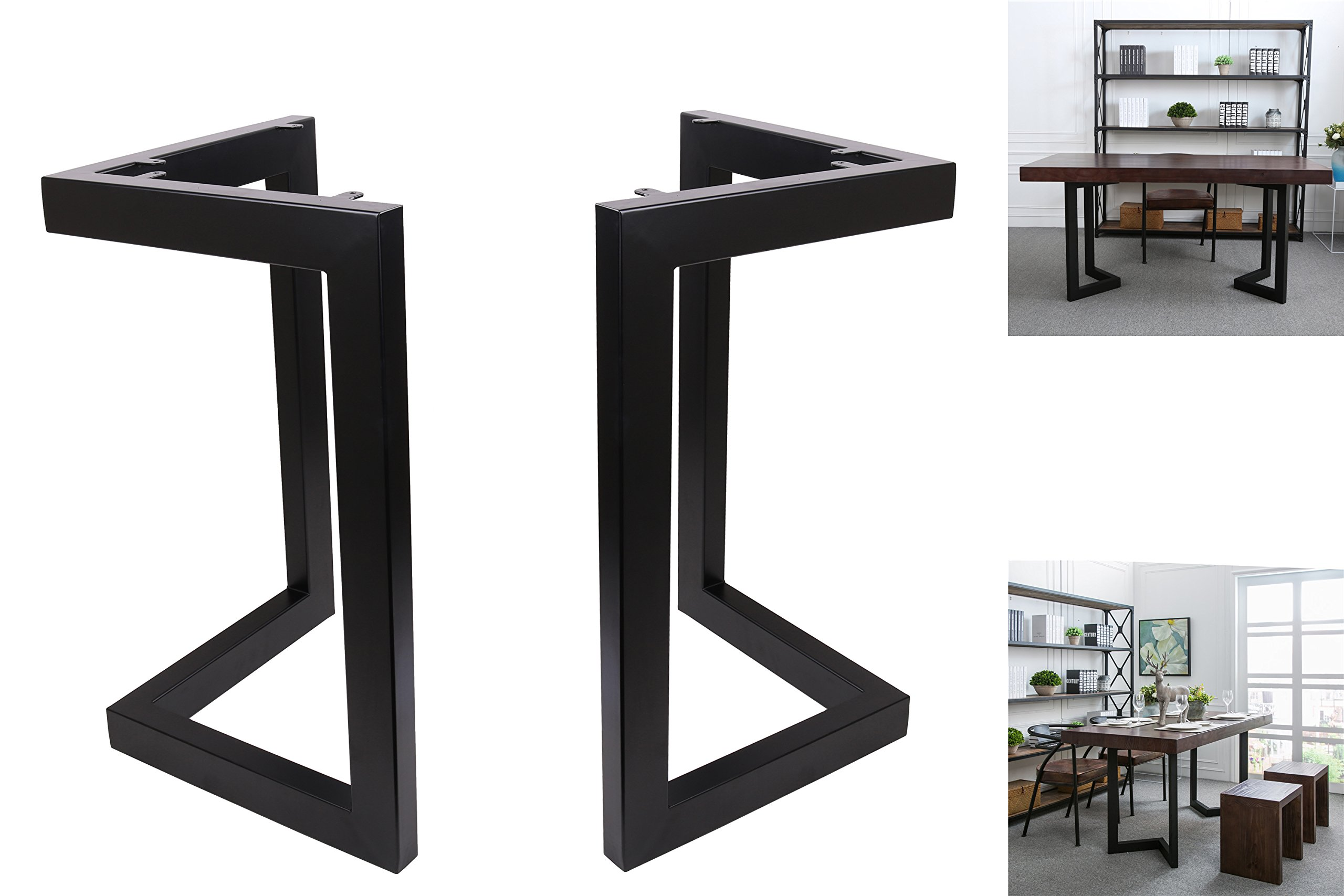 "Buy ECLV 8"" Dining Table Legs, L-Shaped Steel Table Legs, Country"