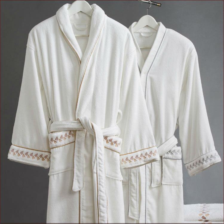64bce52c3ec9b 100% coton peignoir en tissu éponge tissu peignoir de bain pour femmes  hommes