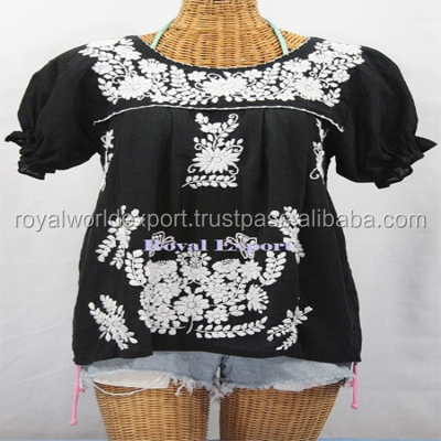 Hand Embroidered dress mexican embroidery clothing wholesale Women's Tunic Dress
