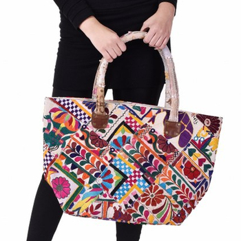 Ethnic Traditional Handbags Indian Embroidered Tote Bags Handmade Shoulder