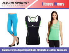 custom fitness sportswear polyester spandex yoga pants gym wear women's legging and tank top