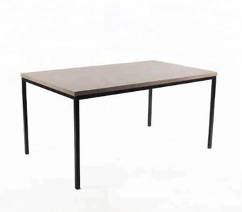 Rhea Simple Industrial Wooden Metal Leg Dining Table Buy