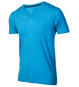 Customized Men's 100% Cotton V neck T Shirt