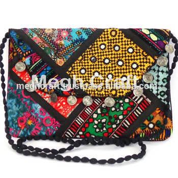 37575c09a8e4 Vintage Boho Clutch Bags- Ethnic Tribal India Bags- Vintage Handmade Banjara  Bag - Kutch