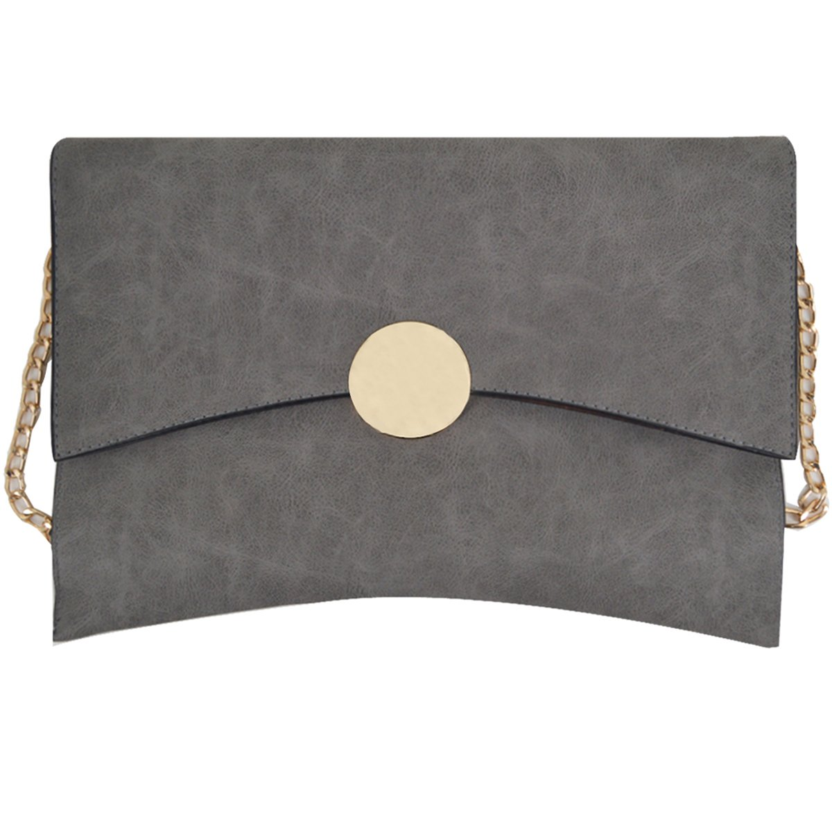 ab6e0dab6355 Get Quotations · Felice Fashionable Oversized Clutch Bag Purse Women Large Envelope  Clutch Chain Shoulder Bag (grey)