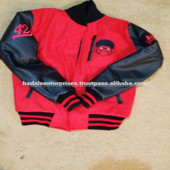 High Quality Custom embroidered logo,s Leather Sleeve,s varsity jackets