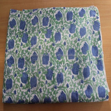 2.5 yards Floral Hand Block Printed Handmade Cotton Indian Sanganeri print