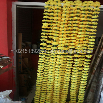 Decorative Artificial Marigold Flower Garland For Wedding Backdrops