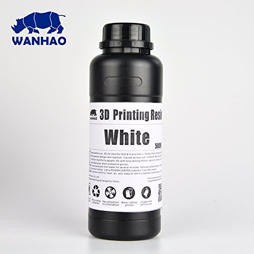 Wanhao UV Cure 3D Printer Resin - White 500ml