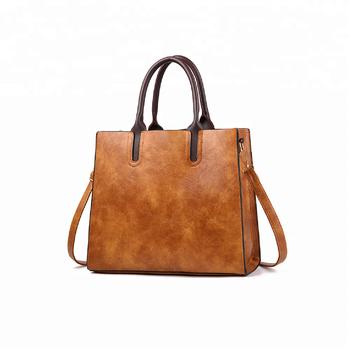 898de0593 Bolsa De Couro Das Mulheres Do Vintage Senhoras Shopper Sacola Pu ...