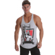 Men's gym stringer vest 100% Cotton slim fit Tank vest Pink singlet male