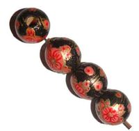 Dyed Wood Beads Painted Round is your best online shopping store to buy high quality round wooden beads large Size
