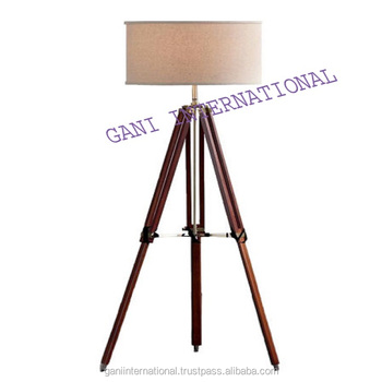 Nautical tripod floor lamp with wooden stand view decorative floor nautical tripod floor lamp with wooden stand mozeypictures Choice Image