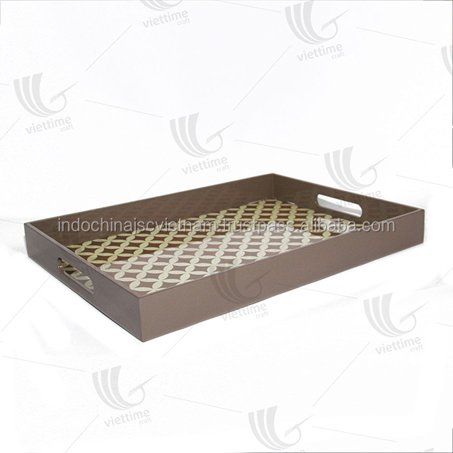 Wholesale high quality lacquer tray made in Vietnam