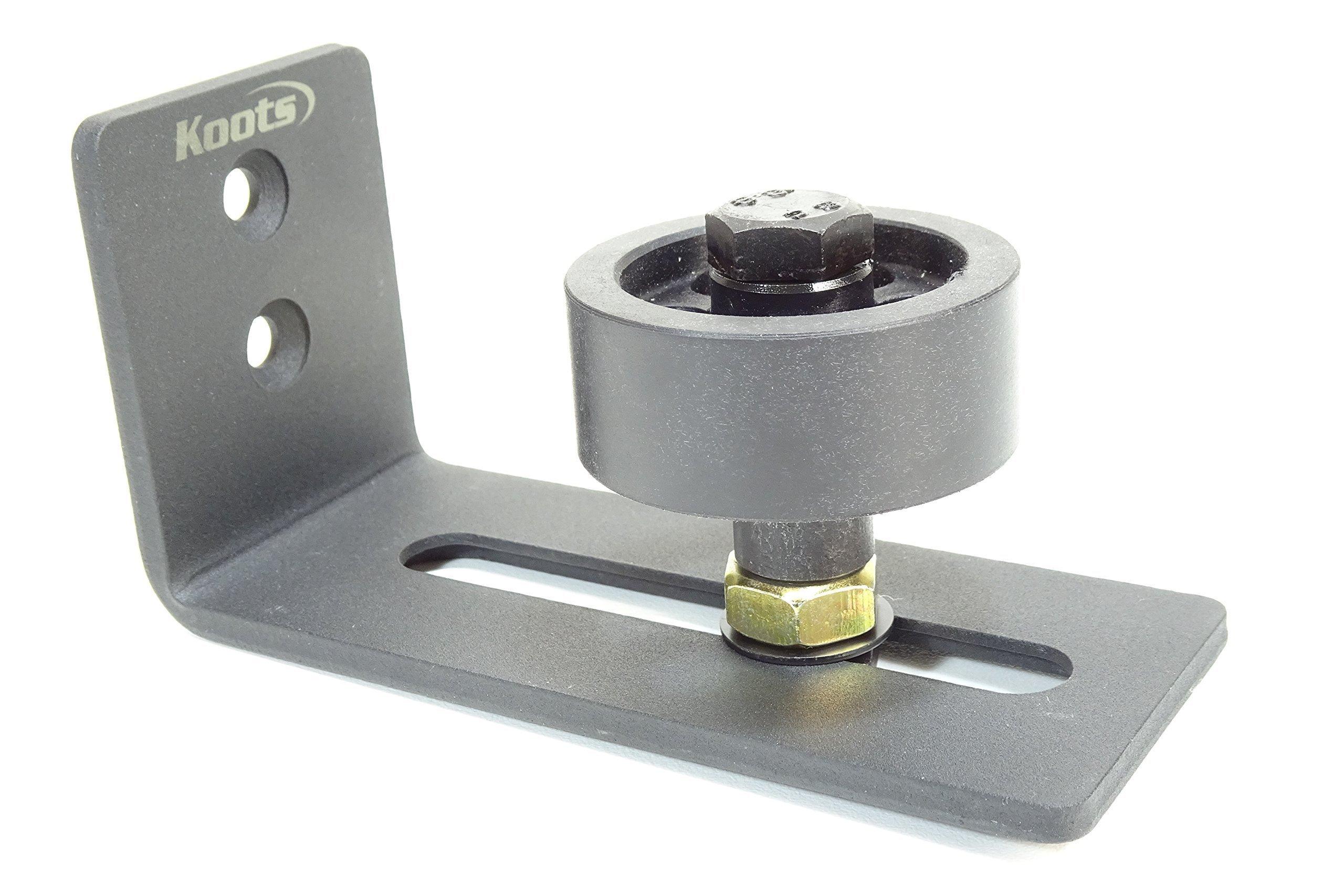 Barn Door Adjustable Stay Roller Sits on Floor| Bottom Door Guide | Black Powder Coated Steel | Barn Door Hardware