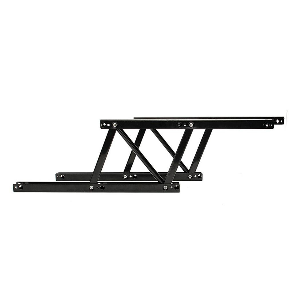 Yusylvia 1 Pair Lift Up Coffee Table Mechanism Table Furniture Hardware Hardware Fiftting Usage For Table Cabinet Desk Black (2, black)