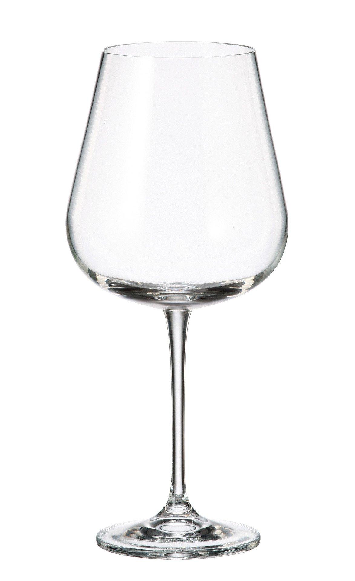 Crystalite Bohemia - Lead Free Crystal Wine Glasses Amundsen Stemware Collection, Set of 6 (Large Wine Glass 22oz. (670ml))