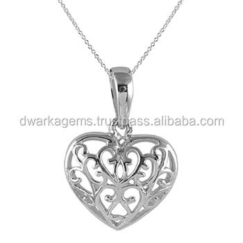 Heart shape pendant 925 sterling silver wholesale jewelry from heart shape pendant 925 sterling silver wholesale jewelry from india pendants mozeypictures Choice Image