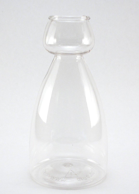 Quaffer Double Bubble Layered Shot Glass Beer Quaffer Plus Recipe Card Plastic Clear 1.5 oz On Top 11.2 oz On Bottom Set Of 4