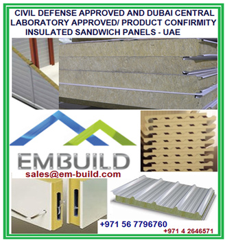 Civil Defense Approved,Dubai Central Laboratory I e Dcl Approved/ Product  Conformity Insulated Roof And Wall Sandwich Panels - Buy Civil Defense