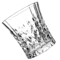 Factory supply engraved crystal whisky glass, 230ml drinking glass