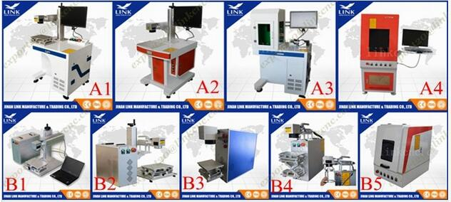 HOT SALLER ! Metals/Plastic/Rubber/Wood/ABS/PVC/PES/Steel/Titanium/Copper Fiber Laser Marking Machine
