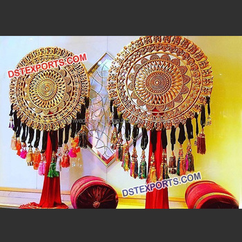 Indian Wedding Round Decoration Props Wedding Decor Fiber Lotus