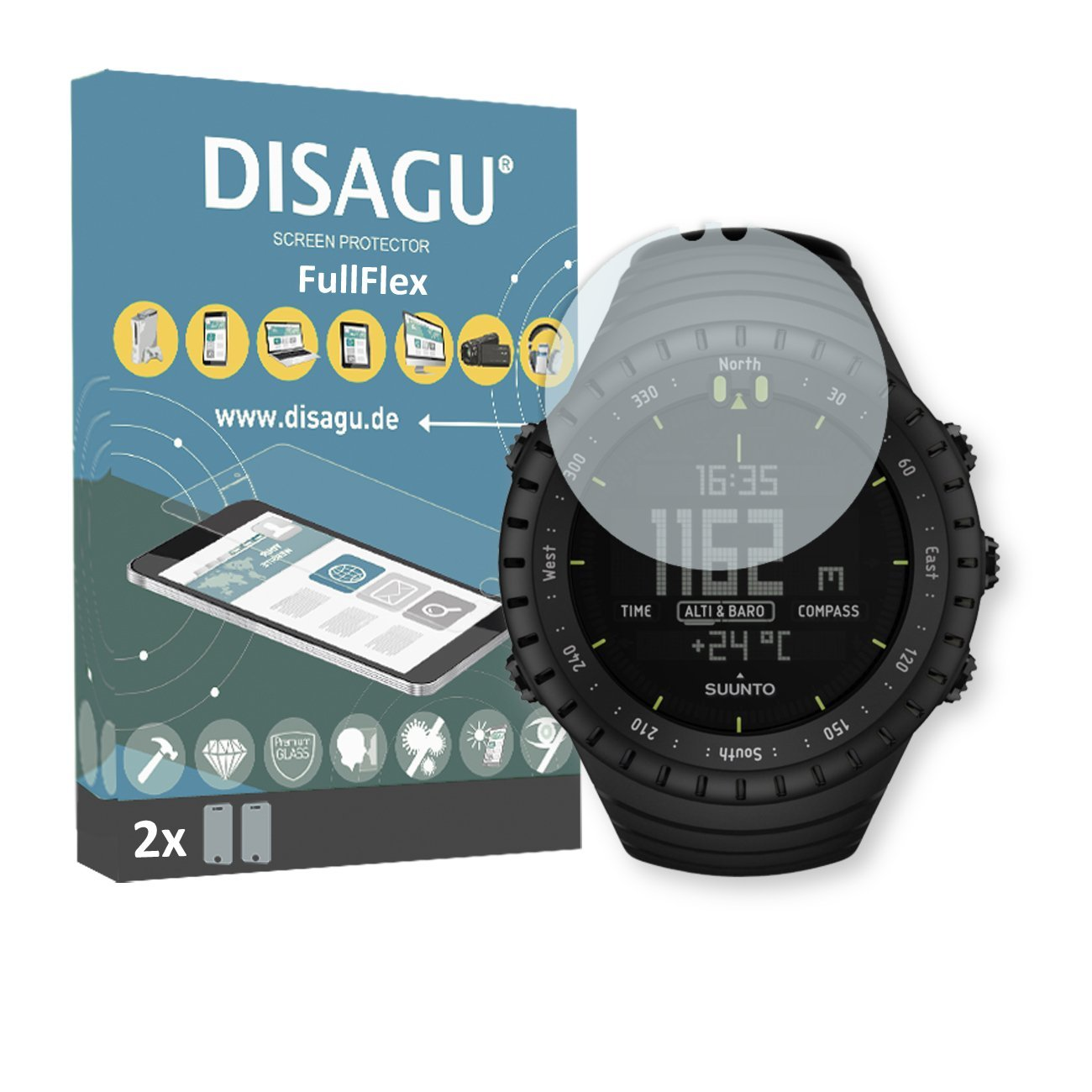 Cheap Black Core Alliance Find Deals On Line At Suunto Ultimate Get Quotations Disagu 2 X Fullflex Screen Protector For All Foil