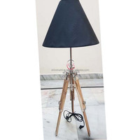 Nautical Floor Lamp Designer Wooden Lamp Base