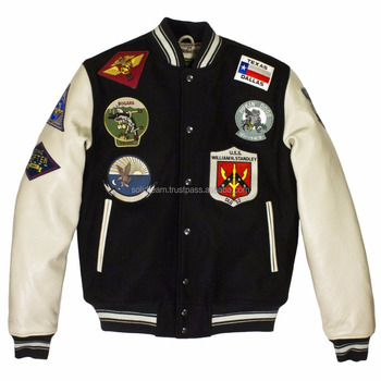 Customized Latest Quilted Bomber Jacket Menvarsity Jacket Wholesale
