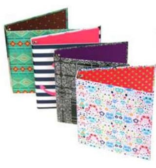 Emraw Trendsetters Used For Papers, Loose Leafs, Business Cards, Compact Discs Etc., 3 Ring Binder, 4 Piece