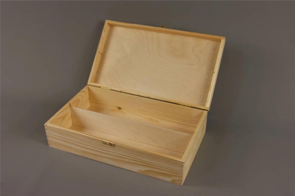 Custom Hot Sell Luxury Pine Wooden Wine Box For Package