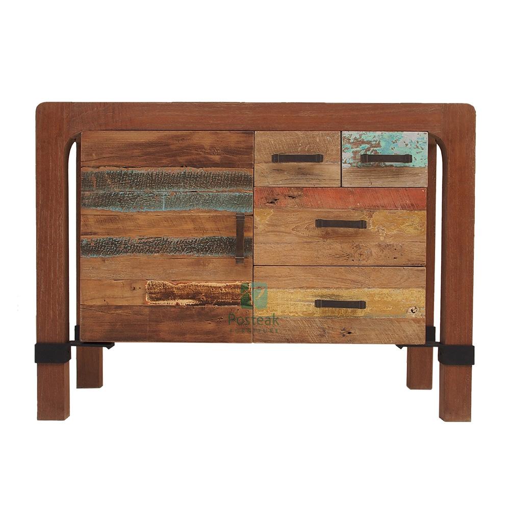 Wooden dresser classic modern living room indoor furniture indonesia