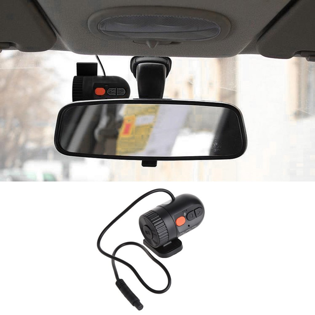 yournameI HD 720P 30FPS Car Mini Detector with 140° Wide Angle Lens Car Camera