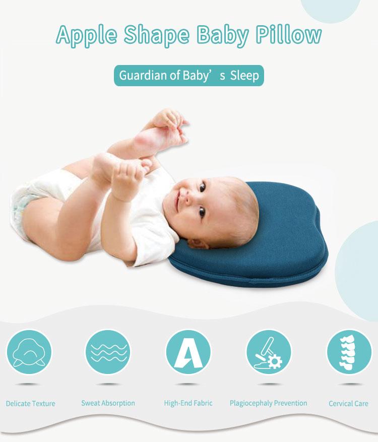 Apple Shape Newborn Baby Pillow Baby Head Shaping Pillow Flat Head Prevention
