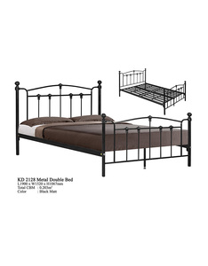 Antique Metal Domica KD-2128 Super Double/Queen Steel Bed Design Malaysia