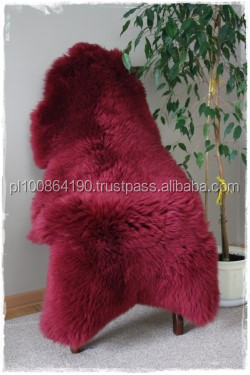GENIUNE Sheepskins BIG Natural Lambskin LONG HAIR wool DYED