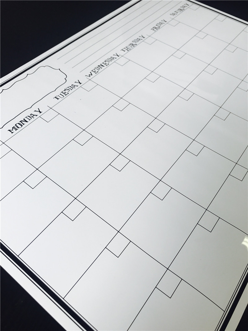 Custom Magnetic Refrigerator Writing Board Rubber Magnet Dry Erase Calendar