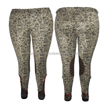 Wholesale Price Available Leather Knee Patch Horse Riding Breeches