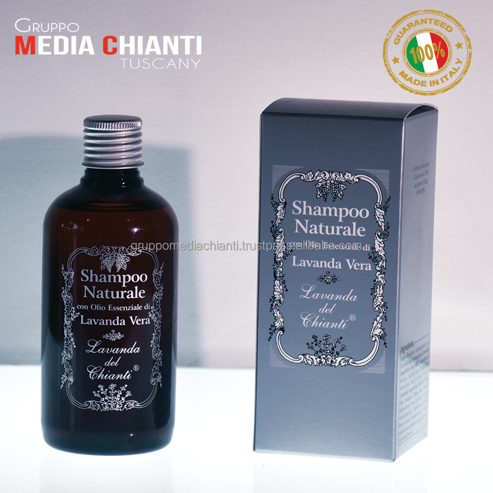 Luxury Natural Lavender Hair Shampoo 250 ml 100% Made in Italy